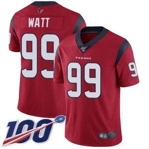 Mens Texans J.J. Watt 100th Season Jerseys